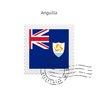 Anguilla Flag Postage Stamp