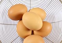 eggs on sieve