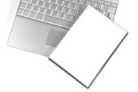 blank dvd on laptop