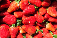 Some strawberry at street market