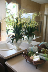 Bathroom with Floral Arrangement