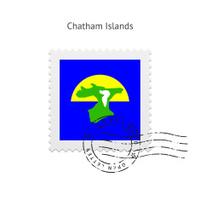 Chatham Islands Flag Postage Stamp