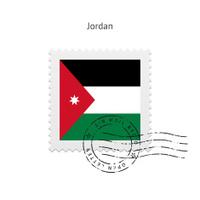 Jordan Flag Postage Stamp