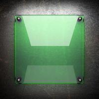 glass on metal wall