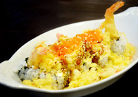 Rice with Tempura or crispy shrimp