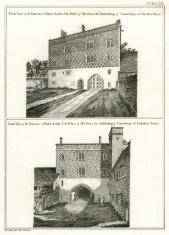 Croydon Palace lodge Archbishop of Canterbury 18th century engra