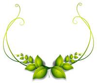Simple leafy border