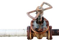 Rusty tap water pipe