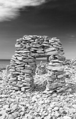 Stowed stone objects in Saaremaa, Estonia