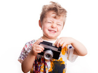 Crazy young photographer