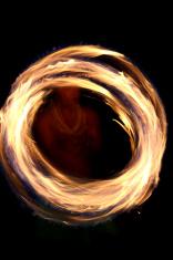 Fire Dancer Abstract