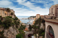 Monaco - View from the train station Monaco-Ville