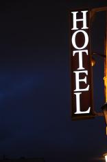 Hotel sign in Paris