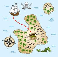 hand-drawn treasure map