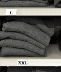 Cloths in a store