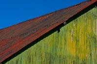 Green Barn on a Blue Day, Exmoor 2013
