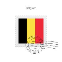 Belgium Flag Postage Stamp