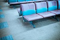 modern luxury seats in the airport