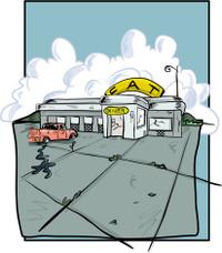 Broken down diner