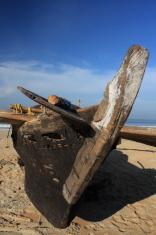 Fishing boat on the Goa beach