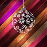Christmas ball with place for your text. EPS 10