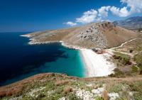 Beach on south Albania ionian coast