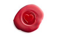 Heart Shaped Wax Seal.Color Image