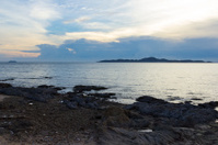 Landscape sunset of seaview