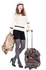 Traveler woman with a bag