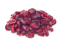 dried cranberry fruits isolated on white background