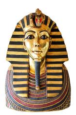 egyptian king tut golden death mask