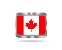 Metal Canada flag.