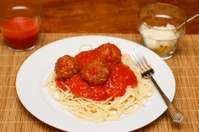 Spaghetti and Meatballs with Sauce
