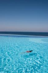 Swiming girl in pool