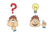 wondering boy with an idea