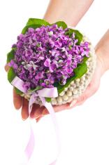 Wedding violet bouquet