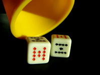 Black and red dice