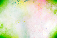 Holi Festival Colors on white background