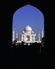 Taj Mahal framed in arch, Agra, India