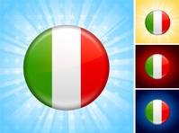 Italy Flag royalty free vector art Button Set