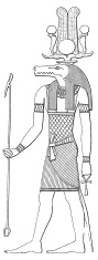 Sobek (antique wood engraving)
