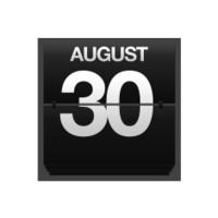 Counter calendar august 30.