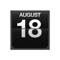 Counter calendar august 18.