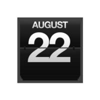 Counter calendar august 22.