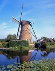Windmill, Kinderdijk, Holland.