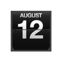Counter calendar august 12.