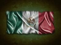 Vintage Mexico flag.