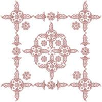 frame with henna design