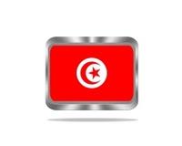 Metal Tunisia flag.