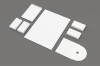 Blank Stationery Set isolated on grey